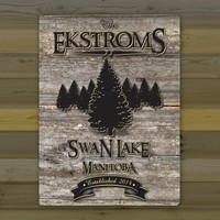 Weathered Cabin & Lake House Canvas Prints ~ Personalized