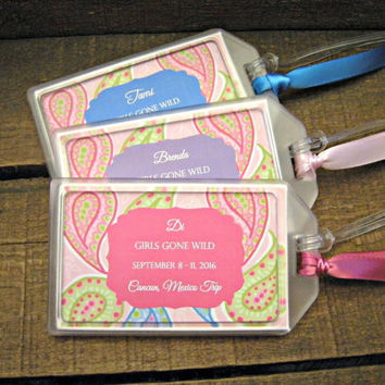 Girls Weekend Luggage Tags, Bachelorette Weekend Tags, 30th Birthday Luggage Tags, 40th Birthday Luggage Tags, 50th Birthday Luggage Tags