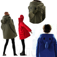 Cute Elephant Nose Hooded Cotton Coat for Women