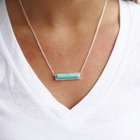 The Turquoise Bar Necklace