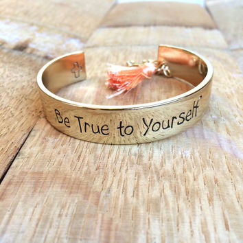 Be true to yourself, Be You Necklace, Sentimental bracelet, Meaningful bracelet, encouragement gift