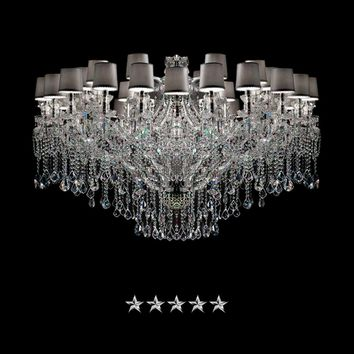Maria Theresa Shaded Glass Crystal Chandelier