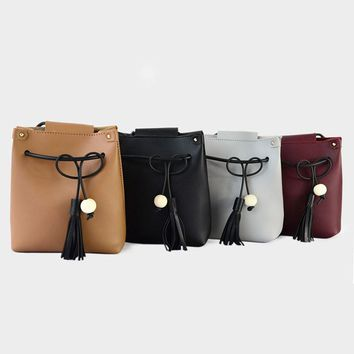 Vintage Style Tassels Girls Shoulder Purse Bags Small Women's Clutch Phone Pocket Pouch Bags Cross Body Messenger Lady Bag BA263