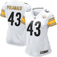 Women's Pittsburgh Steelers Troy Polamalu Nike White Game Jersey