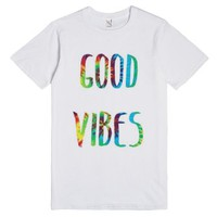 Good Vibes-Unisex White T-Shirt