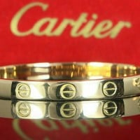 Vintage Rare 1969 Cartier 18K Yellow Gold Aldo Cipullo Screw Love Bracelet 15cm