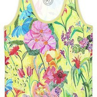 Flowers from my window Women's Trinity Tank by Heaven Seven | Nuvango