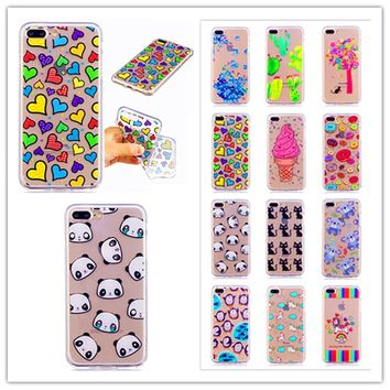 Silicone Soft TPU Case for iPhone 8 7 5 5S SE 6 6S Plus The panda pet sweetheart for iPhone 8 7plus 6 6s plus Mobile phone shell