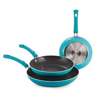 Simple Cooking - 3 pc. Fry Pans - Blue