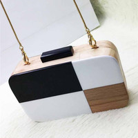 On Sell Vintage Wooden Evening Clutch