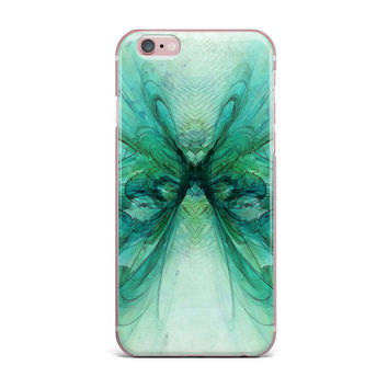 "Alison Coxon ""Butterfly Blue"" Green Black iPhone Case"