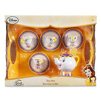 Disney Store Beauty and the Beast Mrs Potts Chip Talking Tea Toy Set New w Box