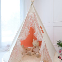 Pink lace teepee tent, play tent