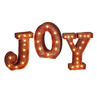 JOY - LED Illuminated Marquee Word Sign - Christmas