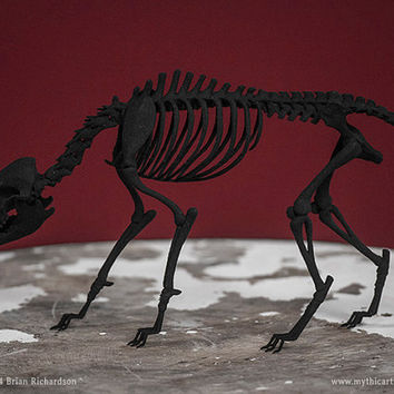 Black Shuck Skeleton 3D Print Taxidermy Sculpture