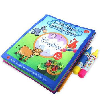 DCCKU7Q Kids Animals Painting Magic Water Drawing Coloring book Educational toys for children