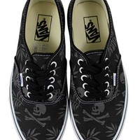 Vans Black/Aloha Skulls Authentic Trainers - Buy Online at Grindstore.com