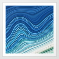 WAVES Art Print by LEMAT WORKS