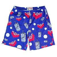 Beer Pong Sublimated Lacrosse Shorts - Dark Blue