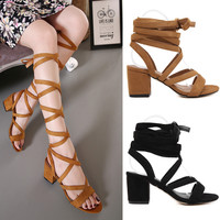 2017 New Summer Women Cross Strap Sandals Sexy Gladiator Sandals Women High Heel Sandals for Women Boot Sandals Free Shipping