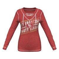 Majestic San Francisco 49ers Q.T. Queen V Fleece