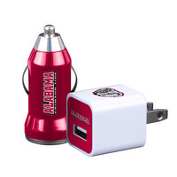 2pk HomeAway USB Car and Wall Chargers University of Alabama