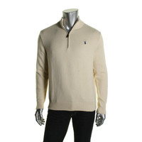 Polo Ralph Lauren Mens Long Sleeves Signature 1/2 Zip Sweater