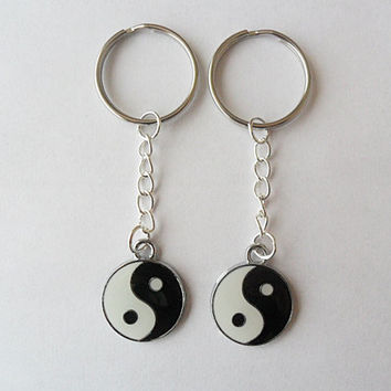 Two Ying Yang Keychains, best friends, BFF