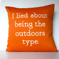 decorative pillow eco friendly I Lied About by mybeardedpigeon