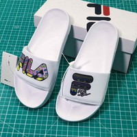 Maui Sons X Fila Collabs Drifter White Sandals - Best Online Sale