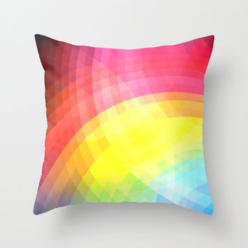 Cheerful Throw Pillow by Ornaart