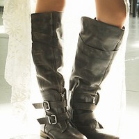 Free People Womens Trigger Tall Boot - Black, 3