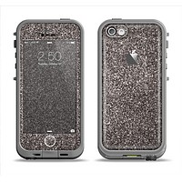 The Black Glitter Ultra Metallic Apple iPhone 5c LifeProof Fre Case Skin Set