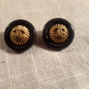 Set of 2 Vintage Original CHANEL Buttons FREE SHIP