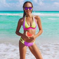 Bandage Thong Bikini Set Low Waist Bathing Suits Swimwear Swimsuit