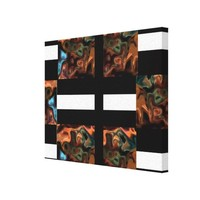 Icon Stripes and Swrils 5.4 Modern Art Stretched Canvas Prints from Zazzle.com