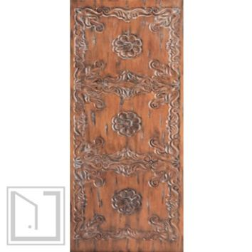 Spanish Style Single Door, Hand Carved Solid Mahogany