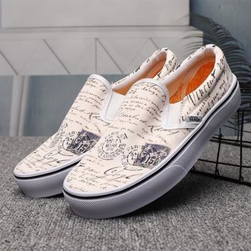 VANS Slip-On Woman Men Fashion Flats Shoes