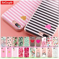SoCouple Soft TPU Case For iphone 7 6 6s 6/7/8 plus 5 5s SE 8 X Fruit Flower Plants Cactus Pattern Silicone Phone Case