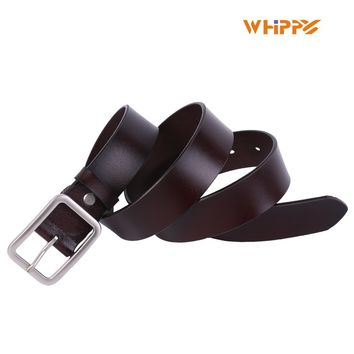 WHIPPY New Arrival Dress Belt for Women Genuine Leather Belt with Pin Buckle