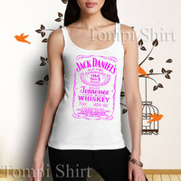 jack daniels whiskey logo pink hot item tank top, for man and woman, made from 100 % preshrunk cotton