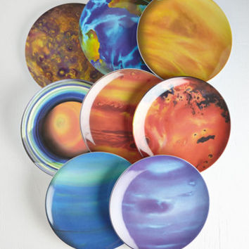Nifty Nerd When the Planets A-Dine Plate Set by ModCloth