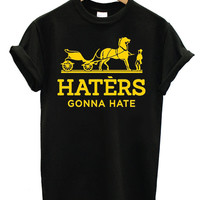 Special Edition T shirt Haters Gonna Hate (Gold Hermes Parody) for t shirt mens, T shirt Girl, Funny Shirt size S,M,L,XL,XXL
