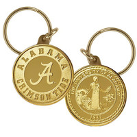 University of Alabama Bronze Coin Keychain