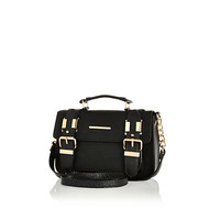 River Island Womens Black textured mini satchel