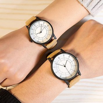 Lovers Watch leather Luxury Women Quartz Watch Table Couple Casual Wristwatch simple dress clock hours