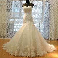 New white ivory Mermaid lace Wedding Dress Custom Size 2 4 6 8 10 12 14 16 18 20