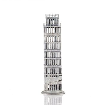 Pisa Tower Saving Box Hancrafted Architecture Models