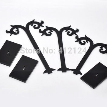 5 Sets Acrylic Earring Displays Black Tree Shaped Stand Holder Jewelry Display