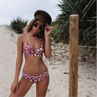 Swimsuit Hot Summer Beach New Arrival Swimwear Women's Fashion Sexy Print Bikini [9707013514]